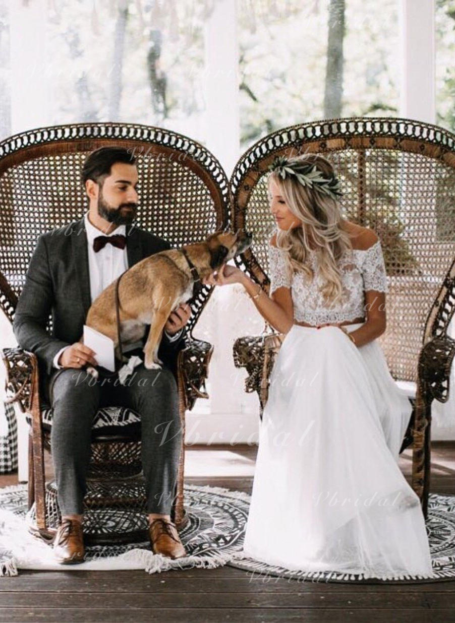 fd23d3cd816 A-Line Princess Off-The-Shoulder Floor-Length Wedding Dress With Ruffle  (002146948)