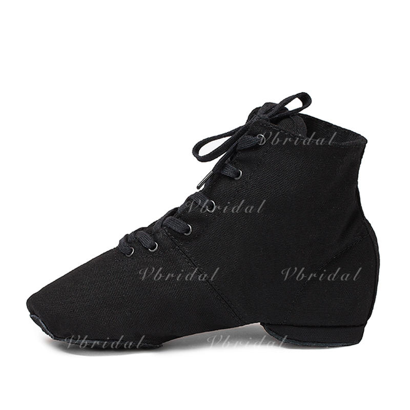 Frauen Leinwand Flache Schuhe Stiefel Jazz Tanzschuhe (053121965)