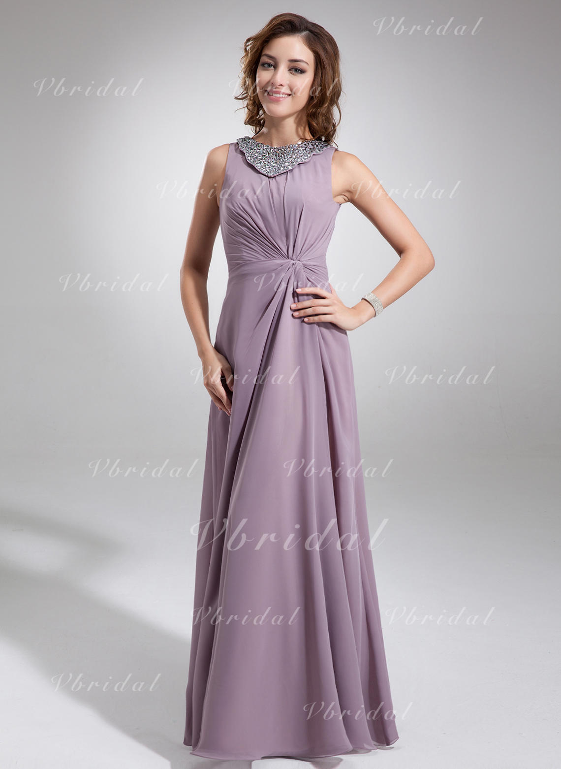 4010021f92f3 A-Line/Princess Scoop Neck Floor-Length Chiffon Mother of the Bride Dress  With Ruffle Beading (008006217)