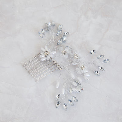 """Combs & Barrettes Wedding Crystal/Imitation Pearls 5.91""""(Approx.15cm) 3.54""""(Approx.9cm) Headpieces (042158446)"""