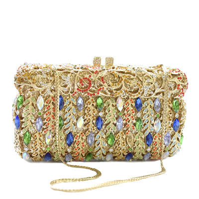 Clutches Wedding/Ceremony & Party Crystal/ Rhinestone/Alloy Magnetic Closure Gorgeous Clutches & Evening Bags (012186361)