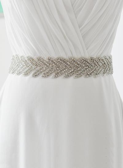 Women Satin With Rhinestones Sash Beautiful Sashes & Belts (015191140)