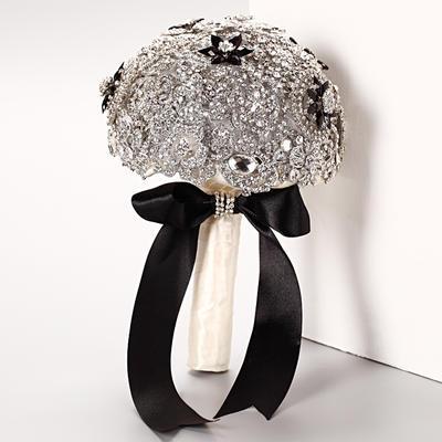 """Bridal Bouquets Round Wedding Crystal/Rhinestone 10.24""""(Approx.26cm) Wedding Flowers (123188856)"""