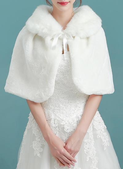 Wrap Wedding Faux Fur Ivory Wraps (013150334)