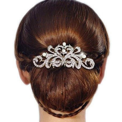 "Combs & Barrettes Wedding/Casual/Party/Art photography Rhinestone 3.74""(Approx.9.5cm) 2.36""(Approx.6cm) Headpieces (042159117)"