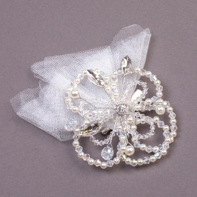 """Combs & Barrettes Wedding/Special Occasion/Party Rhinestone/Imitation Pearls/Net Yarn 7.09""""(Approx.18cm) 1.18""""(Approx.3cm) Headpieces (042155926)"""