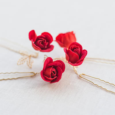 "Hairpins Wedding/Special Occasion/Casual/Outdoor/Party Alloy/Silk Flower 4.33""(Approx.11cm) 1.97""(Approx.5cm) Headpieces (042156811)"