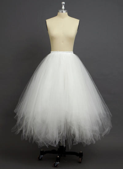 Petticoats Floor-length Tulle Netting/Polyester A-Line Slip 4 Tiers Petticoats (037190759)