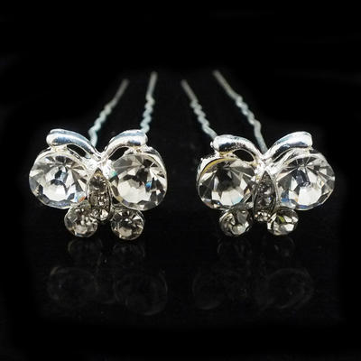 """Hairpins Wedding/Special Occasion/Party Alloy/Czech Stones 2.76""""(Approx.7cm) 0.78""""(Approx.2cm) Headpieces (042156112)"""