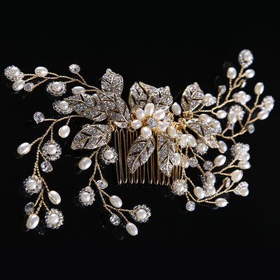 "Combs & Barrettes Wedding/Special Occasion Rhinestone/Alloy/Imitation Pearls 6.69""(Approx.17cm) 2.76""(Approx.7cm) Headpieces (042158665)"
