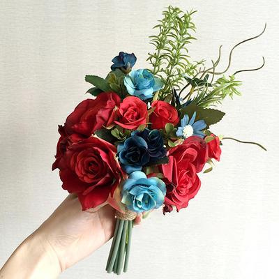"Bridal Bouquets/Bridesmaid Bouquets Wedding Satin 11.02""(Approx.28cm) 9.49""(Approx.24cm) Wedding Flowers (123189686)"