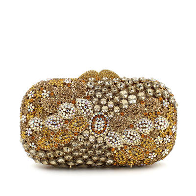 """Clutches/Luxury Clutches Wedding/Ceremony & Party Crystal/ Rhinestone Pillow bag 6.69""""(Approx.17cm) Clutches & Evening Bags (012186941)"""