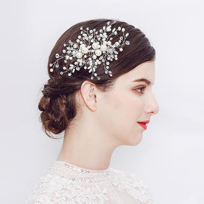 """Combs & Barrettes Wedding/Party Alloy 6.3""""(Approx.16cm) 3.94""""(Approx.10cm) Headpieces (042159227)"""