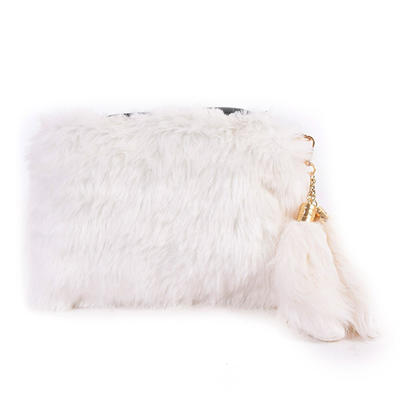 Clutches/Satchel Ceremony & Party Fur/PU Zipper Closure Unique Clutches & Evening Bags (012187914)