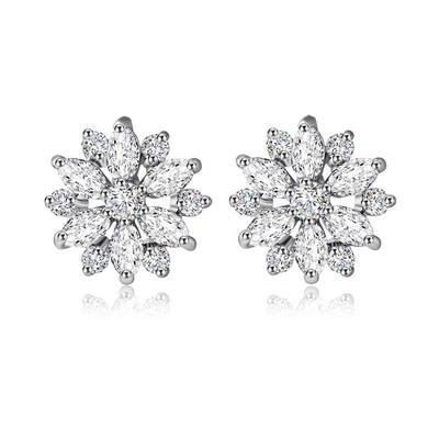 Earrings Zircon/Platinum Plated Pierced Ladies' Snowflakes Shaped Wedding & Party Jewelry (011164232)