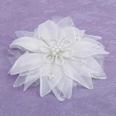 """Flowers & Feathers Wedding/Special Occasion Artificial Silk 1.97""""(Approx.5cm) 3.94""""(Approx.10cm) Headpieces (042153223)"""