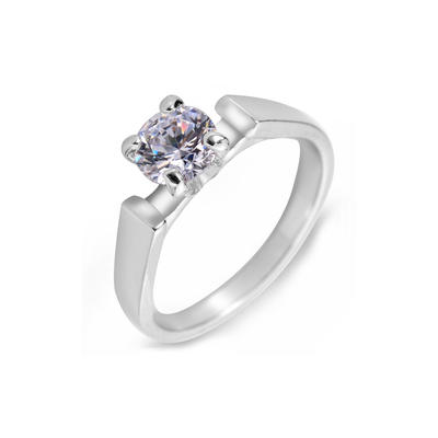 Rings Zircon/Platinum Plated Ladies' Unique Wedding & Party Jewelry (011164826)