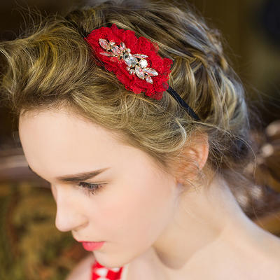 "Flowers & Feathers/Headbands Wedding/Special Occasion/Casual/Party Crystal/Rhinestone 3.54""(Approx.9cm) 1.77""(Approx.4.5cm) Headpieces (042156640)"