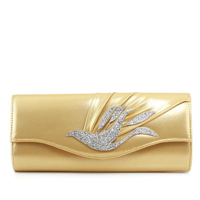Clutches Ceremony & Party PU Magnetic Closure Fashional Clutches & Evening Bags (012185286)