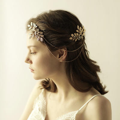 """Combs & Barrettes Wedding Alloy 10.24""""(Approx.26cm) 3.15""""(Approx.8cm) Headpieces (042158887)"""