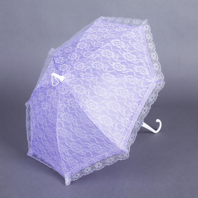 Wedding Umbrellas Bridal Parasols Women's Wedding Hook Handle Wedding Umbrellas (124148585)