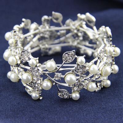 "Bracelets Alloy/Rhinestones/Imitation Pearls Ladies' Gorgeous 6.69""-8.27""(Approx.17cm-21cm) Wedding & Party Jewelry (011167242)"