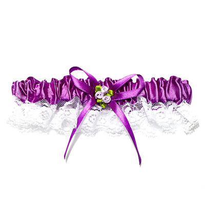 Garters Bridal Wedding/Special Occasion Lace With Ribbons/Flower Garter (104196026)