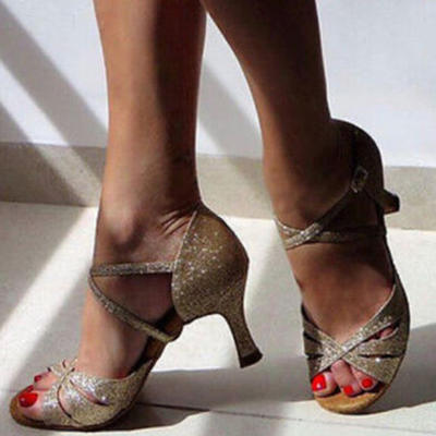 Women's Latin Leatherette Dance Shoes (053183595)