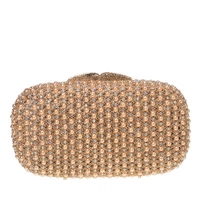 Clutches/Bridal Purse/Luxury Clutches Wedding/Ceremony & Party Crystal/ Rhinestone/Pearl Magnetic Closure Charming Clutches & Evening Bags (012185860)