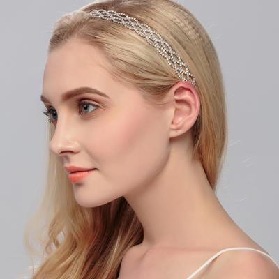 """Headbands Wedding Rhinestone/Alloy 9.84""""(Approx.25cm) 0.59""""(Approx.1.5cm) Headpieces (042158090)"""