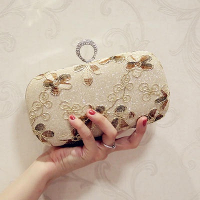 """Clutches/Satchel/Totes Wedding/Ceremony & Party PU Kiss lock closure 7.87""""(Approx.20cm) Clutches & Evening Bags (012187795)"""