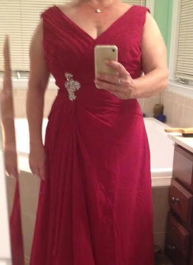 A-Line/Princess V-neck Chiffon Sleeveless Floor-Length Ruffle Crystal Brooch Mother of the Bride Dresses (008212731)