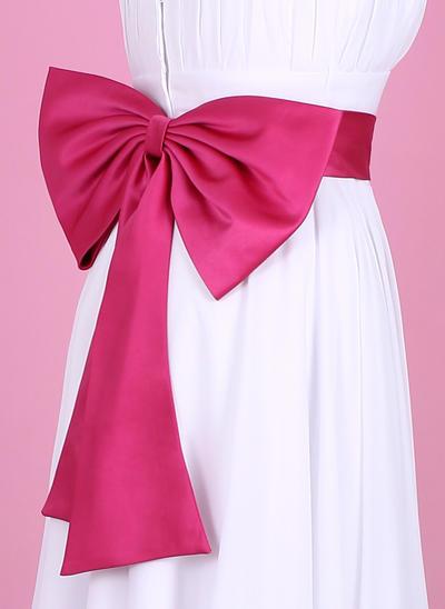 Women Satin With Bow Sash Nice Sashes & Belts (015190900)