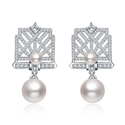 Earrings Copper/Zircon/Imitation Pearls/S925 Sliver Pierced Ladies' Romantic Wedding & Party Jewelry (011167547)