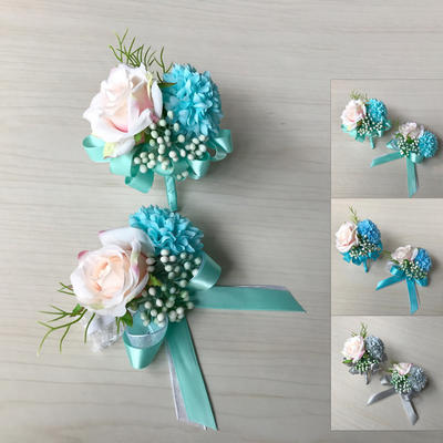 "Wrist Corsage/Boutonniere Free-Form Wedding Silk linen 2.36""(Approx.6cm)~2.76""(Approx.7cm) Wedding Flowers (123189925)"