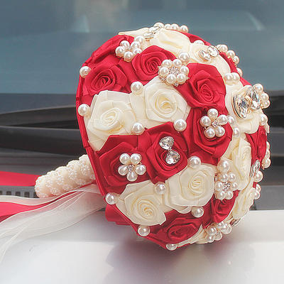 "Bridal Bouquets Round Wedding/Party Satin 7.87""(Approx.20cm) Wedding Flowers (123190388)"
