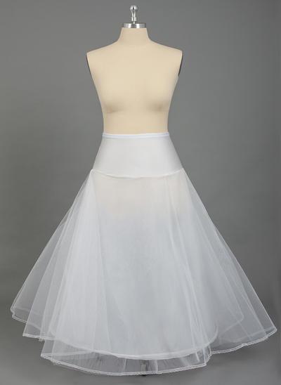Übergröße Unterröcke Nylon/Tüll Netting A-Leitung Gleiten/Volle Kleid Gleiten 2 Ebenen Hochzeit/besondere Anlässe Reifröcke (037190784)