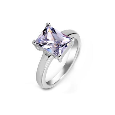 Rings Zircon/Platinum Plated Ladies' Nice Wedding & Party Jewelry (011164828)