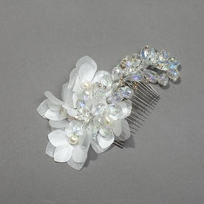 "Combs & Barrettes Wedding/Special Occasion/Party Crystal/Rhinestone/Silk Flower 3.94""(Approx.10cm) 1.97""(Approx.5cm) Headpieces (042156044)"