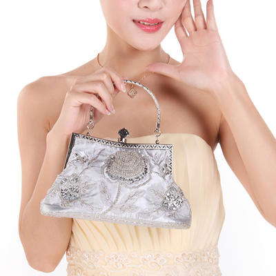 Clutches Wedding/Ceremony & Party Sequin/Polyester Snap Closure Elegant Clutches & Evening Bags (012187510)