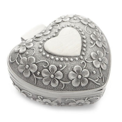 "Jewelry Box Alloy/Silver Plated Ladies' Heart Shaped 3.15""(Approx.8cm) Wedding & Party Jewelry (011165073)"