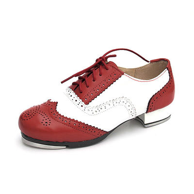 Unisex Tap Flats Real Leather Dance Shoes (053180120)