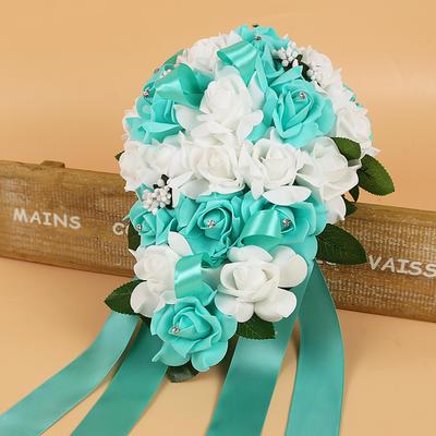 """Bridal Bouquets/Bridesmaid Bouquets Rosy Wedding Foam/Ribbon 9.84"""" (Approx.25cm) Wedding Flowers (123189223)"""