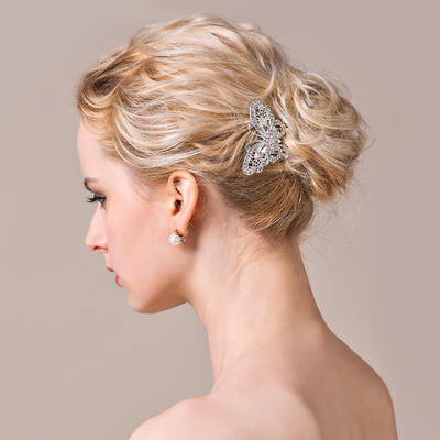 """Combs & Barrettes Wedding/Special Occasion/Casual/Party Rhinestone/Alloy 2.56""""(Approx.6.5cm) 2.36""""(Approx.6cm) Headpieces (042154296)"""