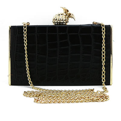 Wristlets Wedding/Ceremony & Party/Casual & Shopping PU Clip Closure Unique Clutches & Evening Bags (012188178)