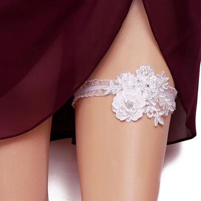 Garters Women/Bridal Wedding/Special Occasion Polyester With Flower/Rhinestone Garter (104196190)