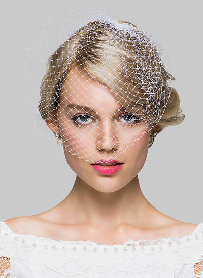 Blusher Veils Tulle One-tier 11.02 in (28cm) Ivory Wedding Veils (006151915)