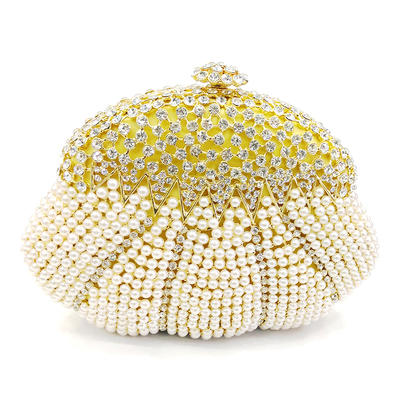 """Clutches/Luxury Clutches Wedding/Ceremony & Party Alloy 6.89""""(Approx.17.5cm) 1.77"""" (Approx.4.5cm) Clutches & Evening Bags (012186132)"""