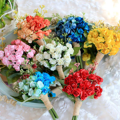 """Bridal Bouquets Free-Form Wedding/Party/Casual Satin 5.12"""" (Approx.13cm) Wedding Flowers (123190210)"""