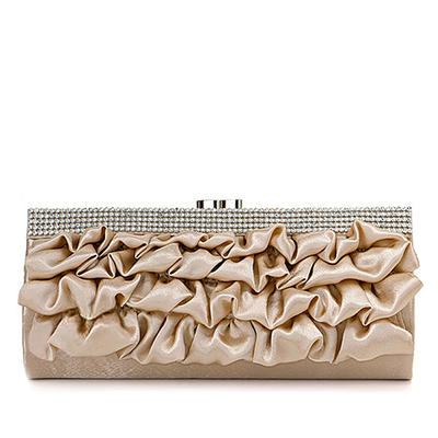 Clutches Wedding/Ceremony & Party Satin Clip Closure Gorgeous Clutches & Evening Bags (012183925)